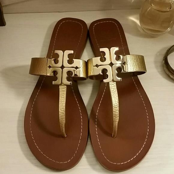 e851274a8 Tory Burch Moore 2 Gold Sandals. M 5b10ada8baebf6a3b7415b0c